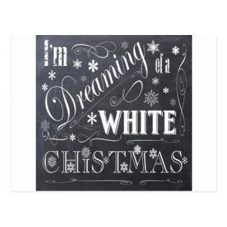 holiday  chalkboard  white Christmas Postcard