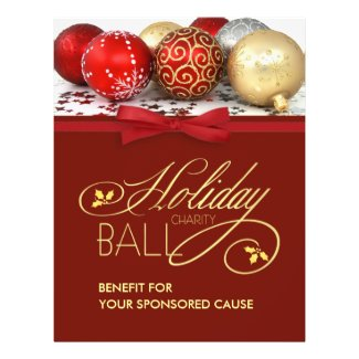 Holiday Charity Ball Flyer