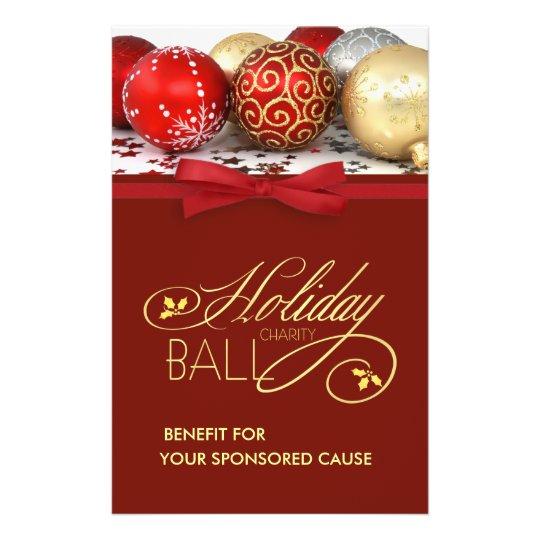 holiday charity event flyers medium size zazzle com