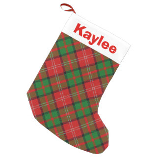 Holiday Charm Clan Nisbet Nesbitt Tartan Small Christmas Stocking