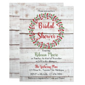 Holiday Charm II Winter/Christmas Bridal Shower Invitation