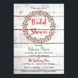 """Holiday Charm II Winter/Christmas Bridal Shower Invitation<br><div class=""""desc"""">This bridal shower invitation perfectly coordinates with the Holiday Charm wedding collection.</div>"""