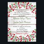 "Holiday Charm II Winter/Christmas Wedding Invitation<br><div class=""desc"">A perfect invitation for your holiday/Christmas wedding!</div>"