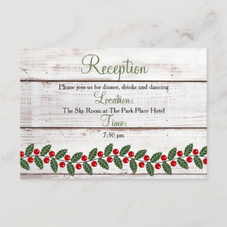 Holiday Charm Winter/Christmas Reception Insert