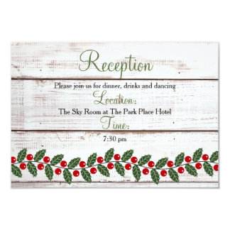 Holiday Charm Winter/Christmas Reception Insert Card