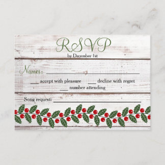 Holiday Charm Winter/Christmas Response Card