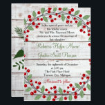 """Holiday Charm Winter/Christmas Wedding Invitation<br><div class=""""desc"""">A perfect invitation for your holiday/Christmas wedding!</div>"""