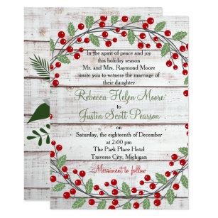 Christmas wedding invitations announcements zazzle holiday charm winterchristmas wedding invitation filmwisefo