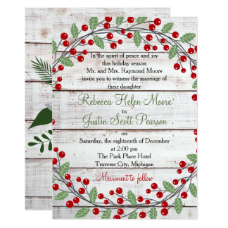 Holiday Charm Winter/Christmas Wedding Invitation