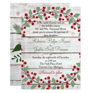 Nice Holiday Charm Winter/Christmas Wedding Invitation