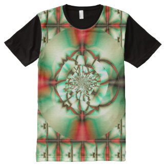 Holiday Cheer Abstract Fine Fractal Art All-Over Print Shirt