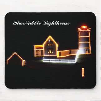 Holiday Cheer at The Nubble Lighthouse Mouse Pad