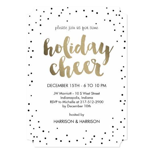 Holiday Cheer Business Holiday Party Invitation Zazzlecom