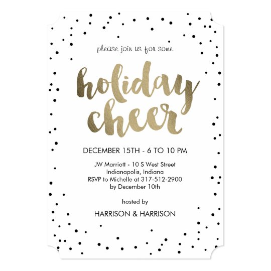 holiday cheer business holiday party invitation zazzle com