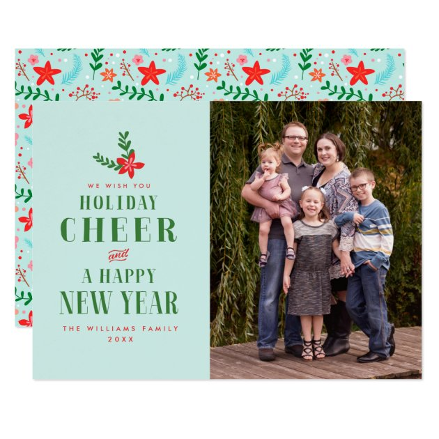 Holiday Cheer Christmas Photo Cards