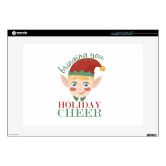 "Holiday Cheer Decal For 15"" Laptop"