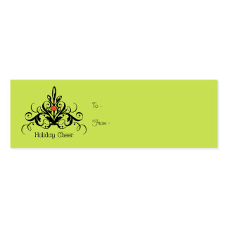 Holiday Cheer Double-Sided Mini Business Cards (Pack Of 20)