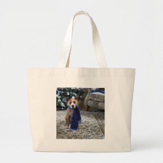 Holiday Cheer from Pit Bull Rescue Dog Jumbo Tote Bag