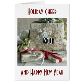 HOLIDAY CHEER/HAPPY NEW YEAR-PRESENTS GALOUR CARD