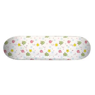 Holiday Cheer Kawaii Skateboard