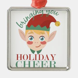 Holiday Cheer Metal Ornament