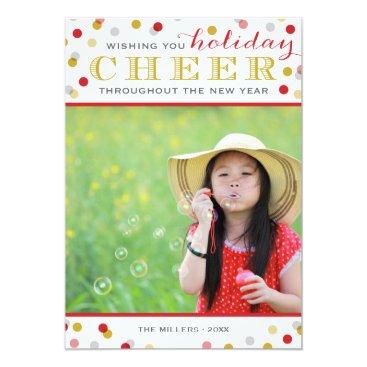 Christmas Themed Holiday Cheer Modern Christmas Photo Card