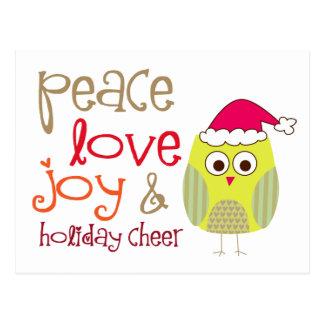 Holiday Cheer Owl, Post Card