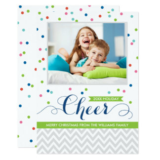 Holiday Cheer Photo Cards | Colorful Confetti