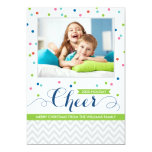 Holiday Cheer Photo Cards   Colorful Confetti Announcement