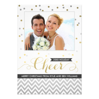 Holiday Cheer Photo Cards | Confetti and Chevron