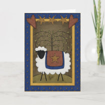 Holiday Cheer Sheep Country Scene - Blank Inside