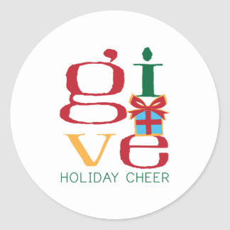 Holiday Cheer Classic Round Sticker