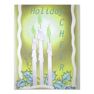 Holiday Cheer Vintage Image Invitation