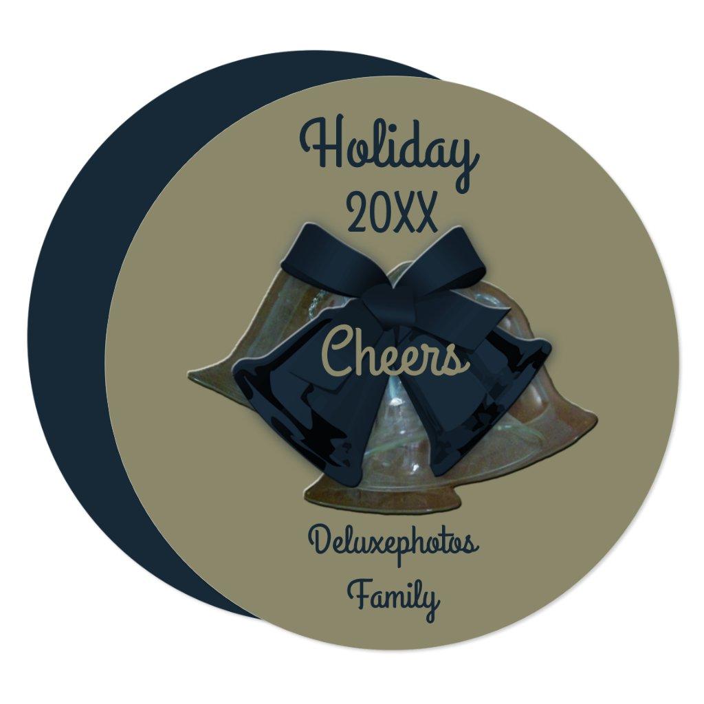 Holiday Cheers Black Pearl Bells Card