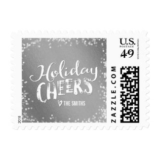 Holiday Cheers Editable Color Holiday Postage