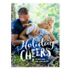 Holiday Cheers Holiday Photo Card Postcard