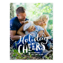 Holiday Cheers Holiday Photo Card Postcard