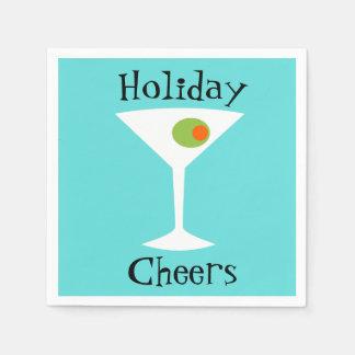 Holiday Cheers Martini Paper Napkins