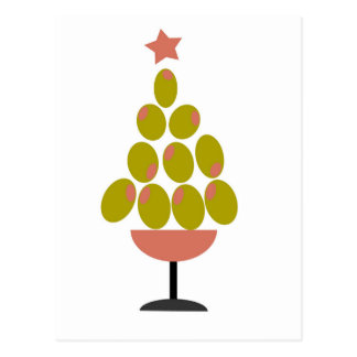 Holiday 'CHEERS!' Olive Tree design Post Card