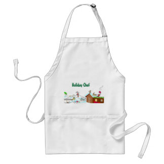 Holiday Chef Adult Apron