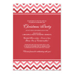Holiday Chevron (Red) Christmas Card Invites