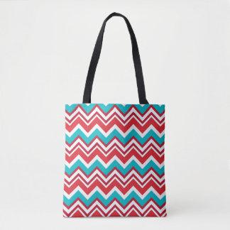 Holiday Chevron Tote Bag