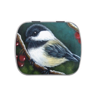 HOLIDAY CHICKADEE Jelly Belly™ Candy Tin