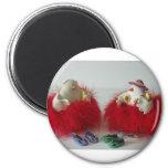 holiday chicks refrigerator magnet
