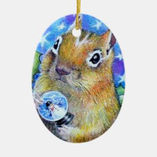 Holiday Chipmunk Ornament