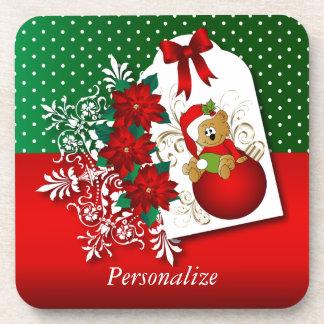 Holiday Christmas Bear Coaster