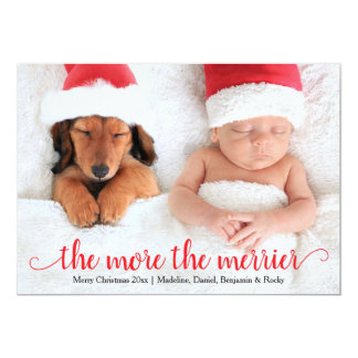 Holiday Christmas Birth Announcement Card