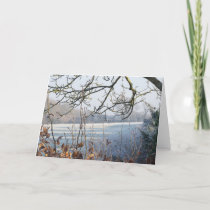 Holiday Christmas Card - Frosty Winter Scene