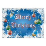 Holiday Christmas Card with Snowflakes and Balls