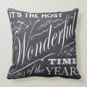 holiday Christmas chalkboard Throw Pillow